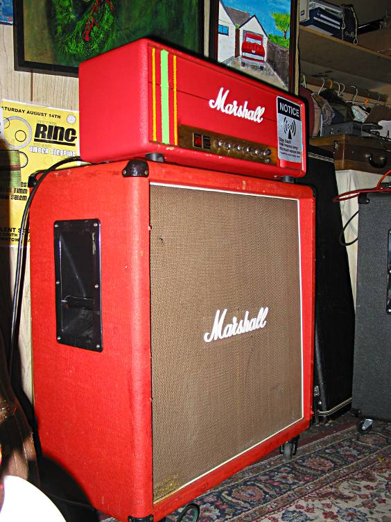 Tim's red Marshall.  The racing stripes make it go faster.